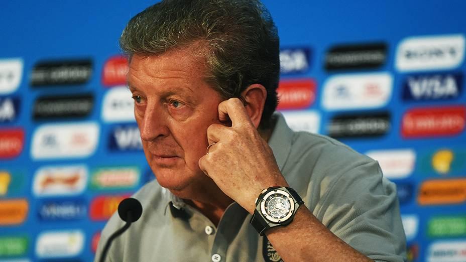 O técnico da seleção inglesa, Roy Hodgson, durante coletiva de imprensa em Manaus