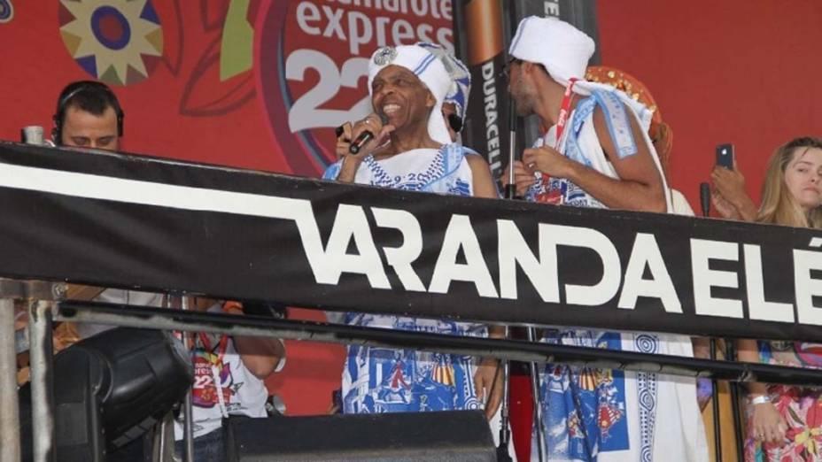 Gilberto Gil no carnaval de Salvador, em 20/02/2012