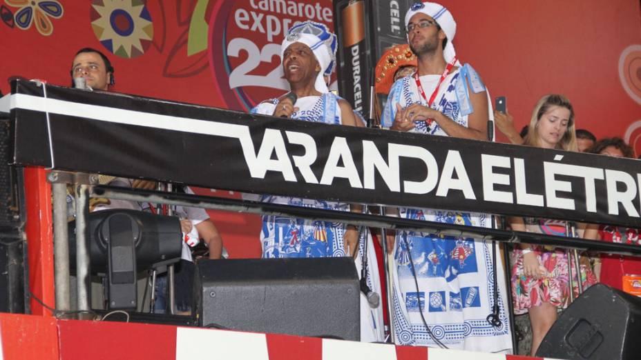 Gilberto Gil no camarote Expresso 2222 em Salvador
