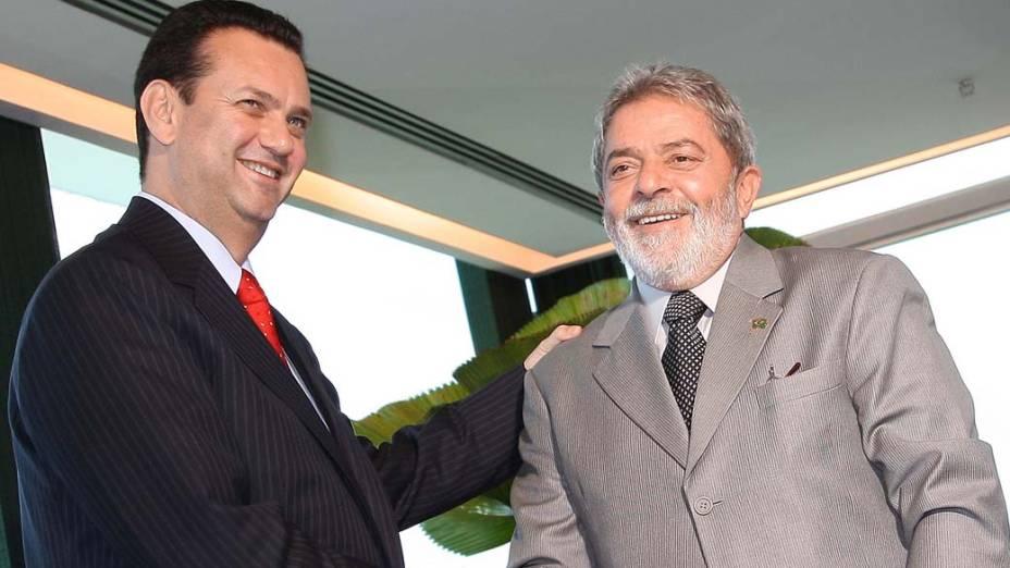 Lula recebendo Kassab no Palácio do Planalto em 2008