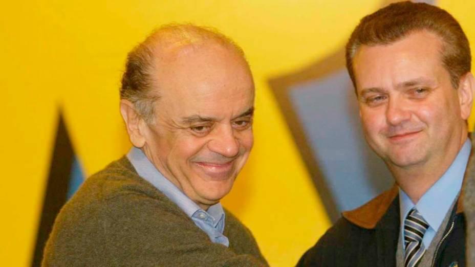José Serra e Gilberto Kassab durante campanha para a prefeitura de São Paulo em 2004