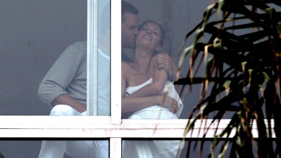 Gisele Bündchen e Tom Brady em Copacabana