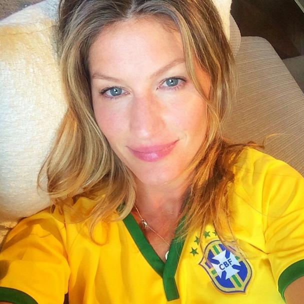 Gisele Bündchen torce pelo Brasil: Ansiosa! Vamos que vamos, meu Brasil!