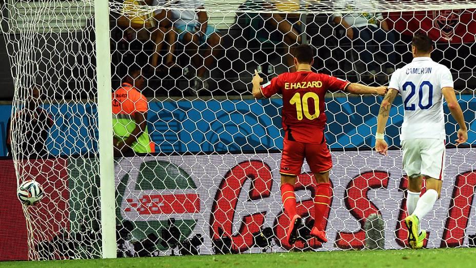 Kevin De Bruyne, da Bélgica, faz gol contra os Estados Unidos
