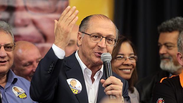 Geraldo Alckmin durante encontro com sindicalistas da UGT
