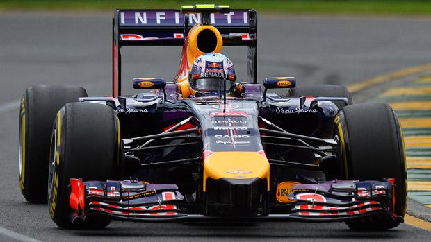 Daniel Ricciardo, da equipe Red Bull, durante treino classificatório no GP da Austrália de F1