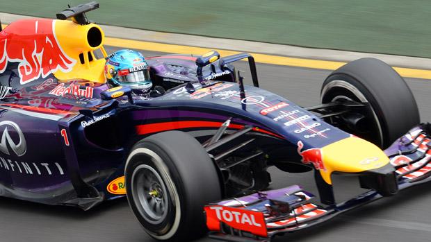 Sebastian Vettel durante treino livre no GP da Austrália de F1