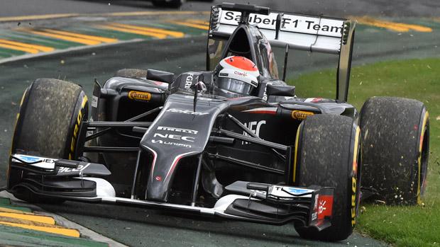 O alemão Adrian Sutil, da Sauber, durente classificatório do GP da Austrália