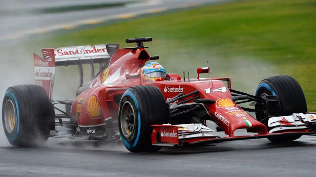 Fernadno Alonso, da Ferrari, no treino classificatório para o GP da Austrália