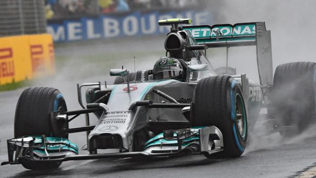 Nico Rosberg, da Mercedes, durante treino classificatório, na Austrália