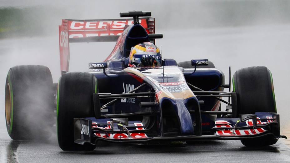 O piloto Jean-Eric Vergne, da Toro Rosso, durante o GP da Austrália de F1