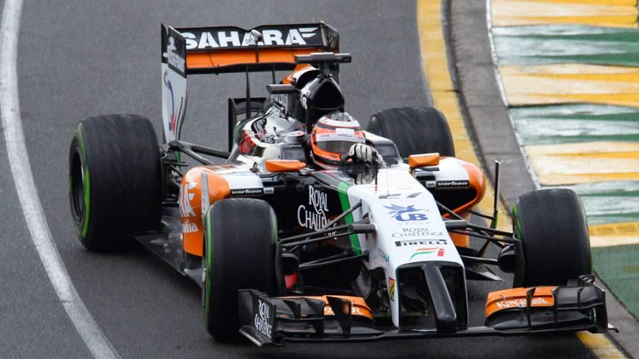 O piloto Nico Hulkenberg durante o GP da Austrália de F1