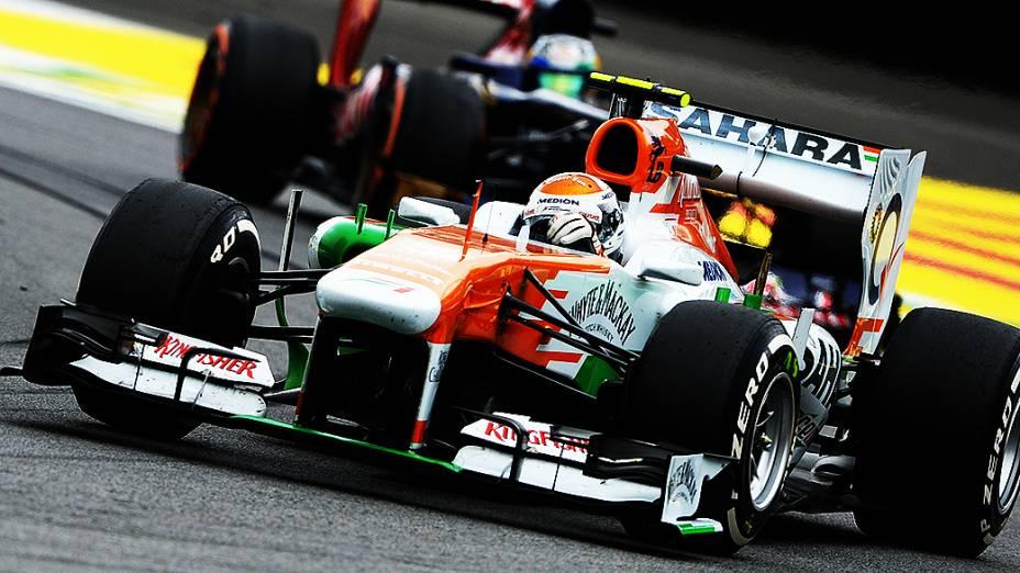 Adrian Sutil durante a corrida do Grande Prêmio do Brasil