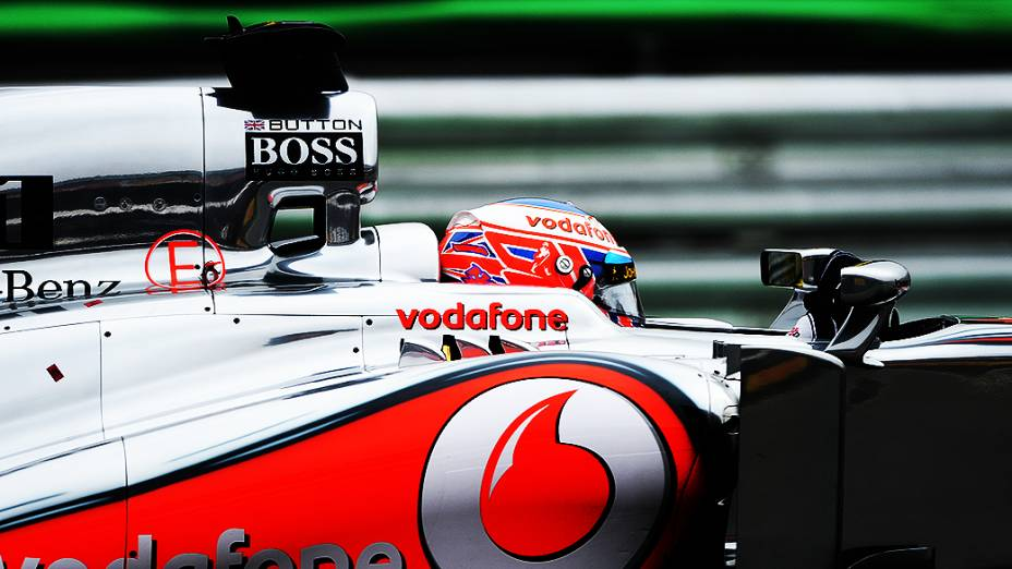 Jenson Button durante a corrida do Grande Prêmio do Brasil