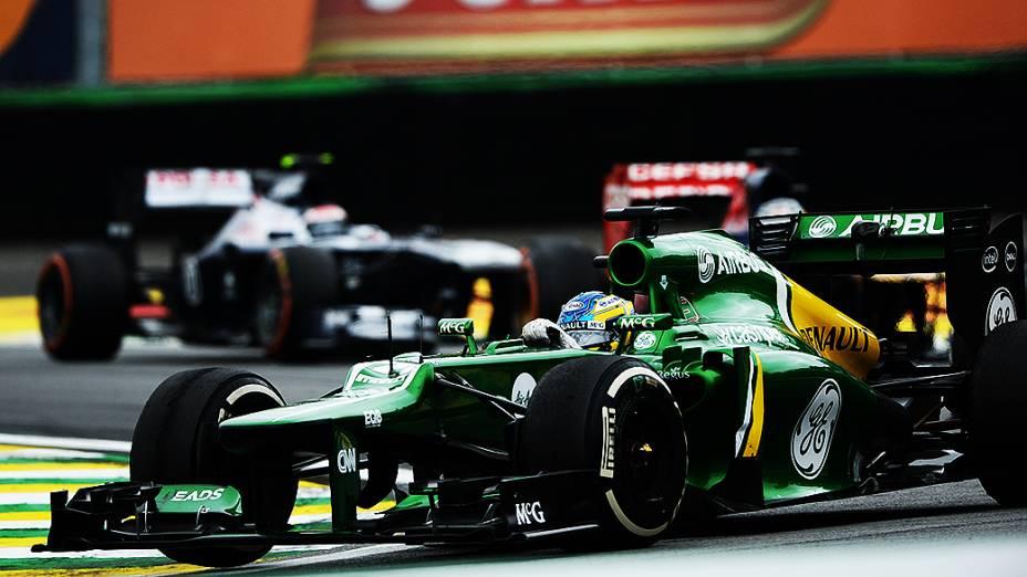 Charles Pic durante a corrida do Grande Prêmio do Brasil