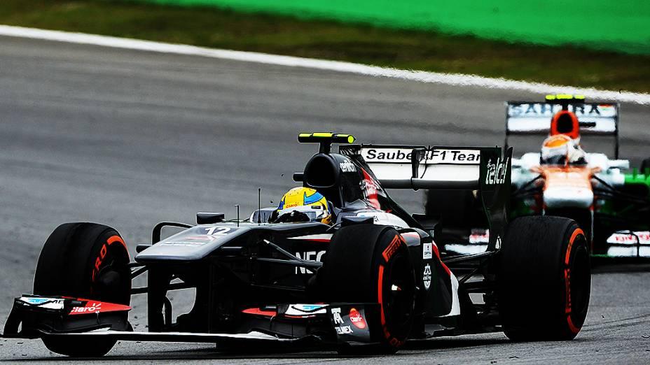 Esteban Gutiérrez durante a corrida do Grande Prêmio do Brasil