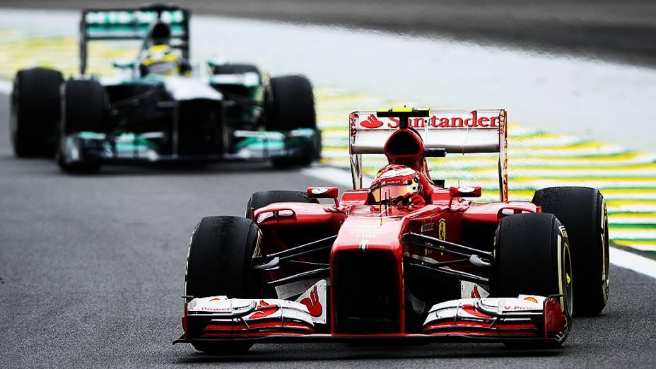 Felipe Massa durante a corrida do Grande Prêmio do Brasil