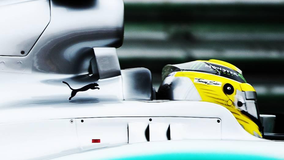 Nico Rosberg durante a corrida do Grande Prêmio do Brasil