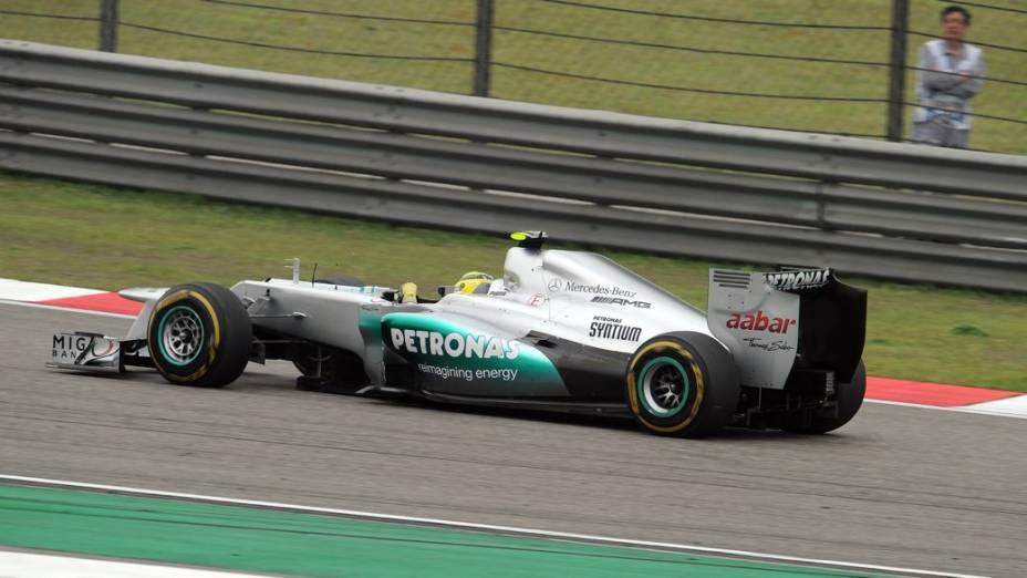 Nico Rosberg, da Mercedes, no GP da China de Fórmula 1