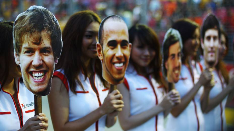 Grid girls durante o GP de Cingapura