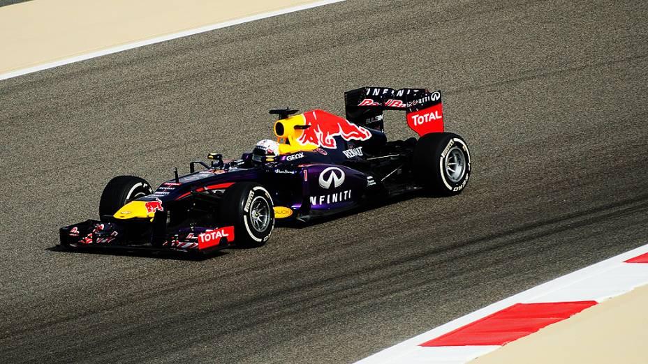 Sebastian Vettel durante a prova do GP de Bahrein na Fórmula 1