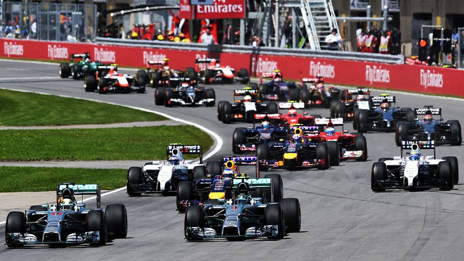 Largada do Grande Prêmio do Canadá de Fórmula 1, neste domingo (08)