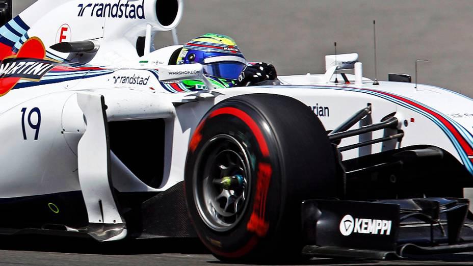 O piloto brasileiro Felipe Massa durante o Grande Prémio do Canadá, sétima prova do Mundial de Fórmula 1 de 2014