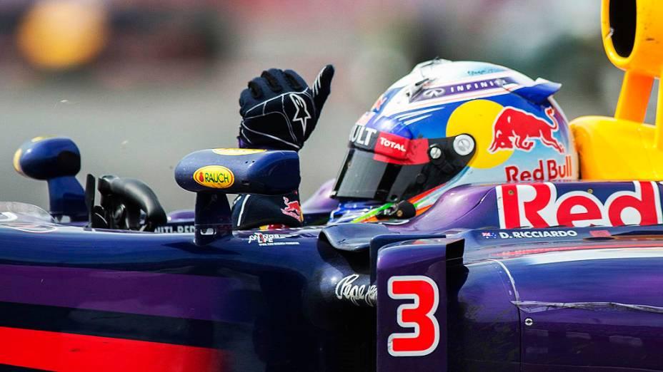 O australiano Daniel Ricciardo vence o Grande Prémio do Canadá, sétima prova do Mundial de Fórmula 1 de 2014