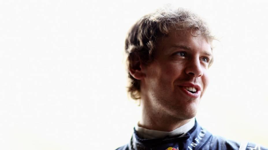 Sebastian Vettel, piloto da Red Bull Racing, antes dos treinos do GP da Malásia