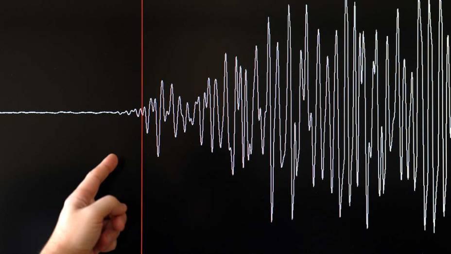 Gráfico mostra a magnitude do terremoto que atingiu o Japão. O desastre ambiental é considerado o mais violento já registrado no país, com mais de 300 vítimas