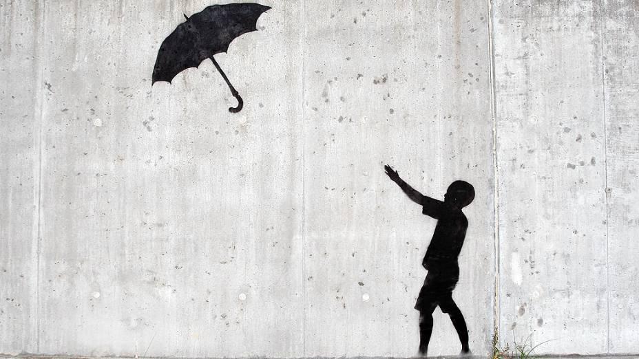 Grafite de Banksy, em Nova Orleans, nos Estados Unidos
