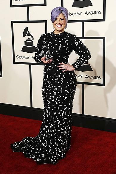 Kelly Osbourne durante a 57ª edição do Grammy, premiação que elege os melhores da música internacional, que acontece neste domingo (08)
