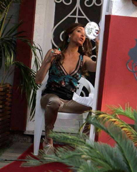 Christiane Torloni durante gravação na Lagoa Rodrigo de Freitas, Rio de Janeiro