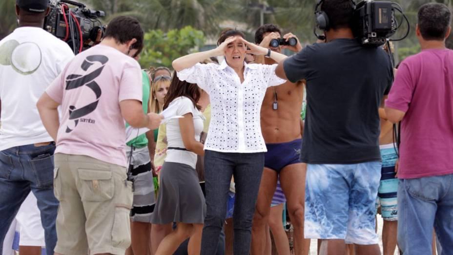 Gravação da novela Fina Estampa na praia da Barra da Tijuca, Rio de Janeiro