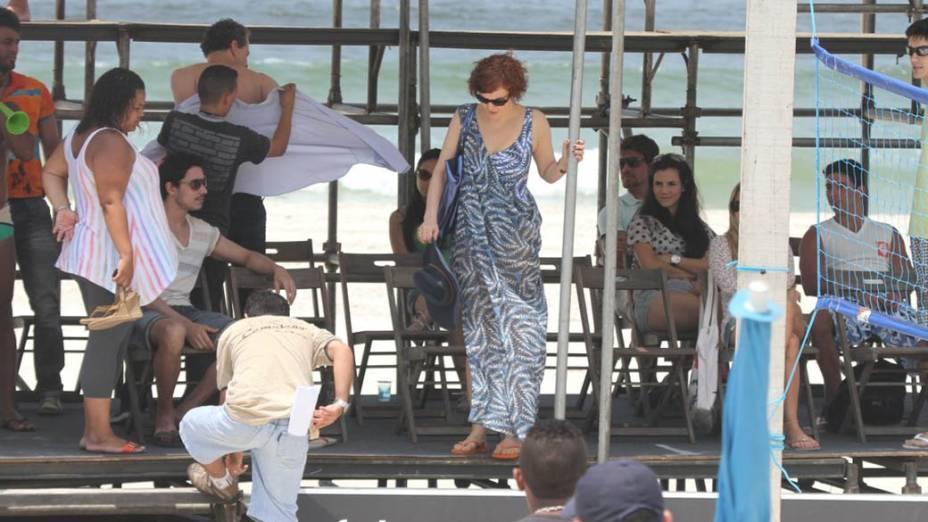 Gravação da novela Fina Estampa na Barra da Tijuca