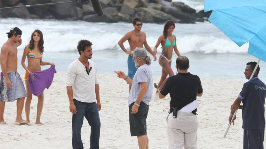 """Gravações da novela """"Fina Estampa"""" da rede Globo na Barra da Tijuca, Rio de Janeiro"""
