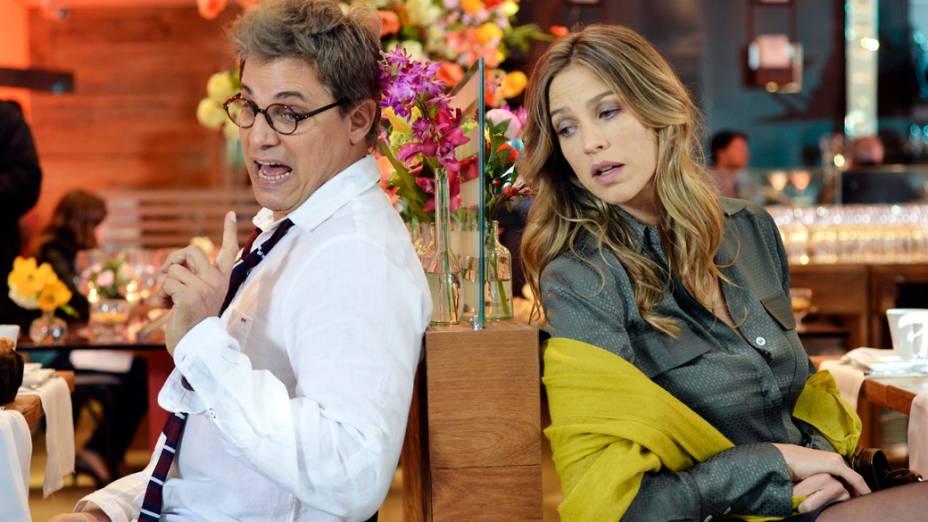 Felipe (Edson Celulari) e Vânia (Luana Piovani) na novela Guerra dos Sexos
