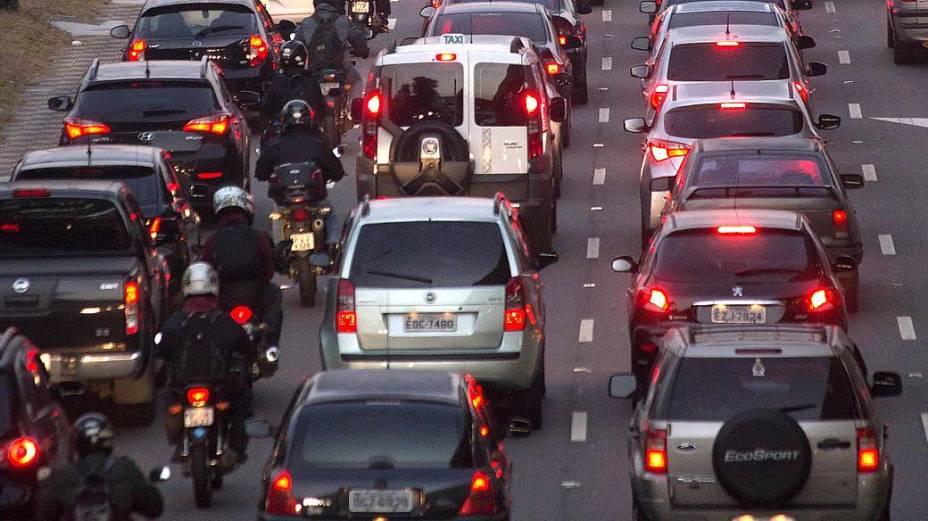 Trânsito intenso na Radial Leste de São Paulo, nesta quinta-feira