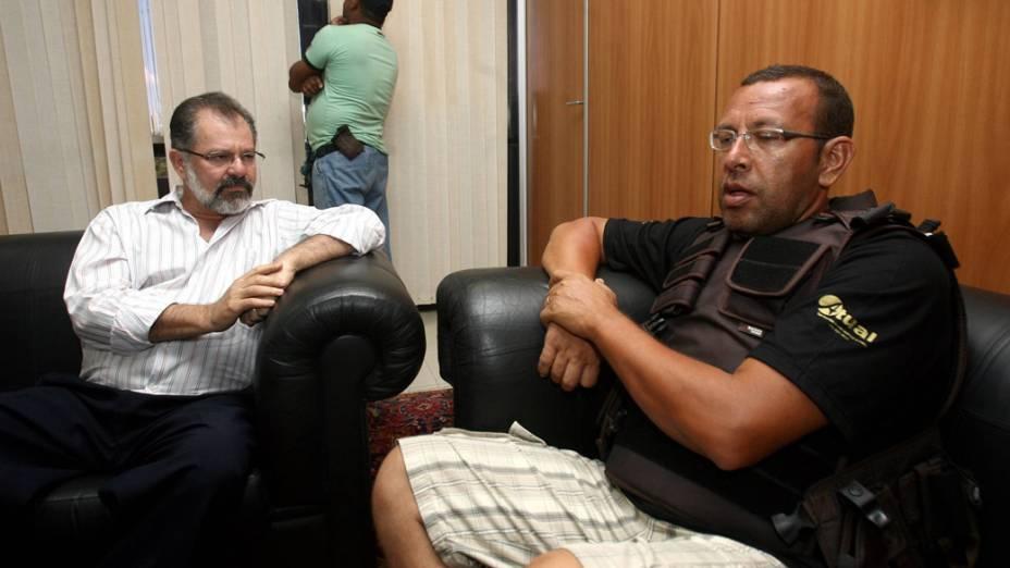 O presidente da Associação de Policiais e Bombeiros e de seus Familiares (Aspra), Marco Prisco, foi preso nesta quinta-feira (9)