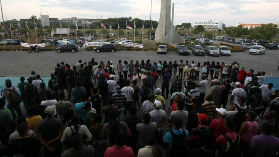 Grevistas na Assembleia Legislativa da Bahia