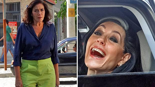Griselda é surpreendida pelo retorno de Tereza Cristina, na última cena de Fina Estampa