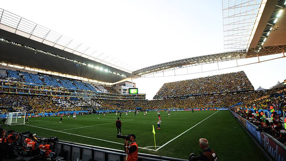 Brasil e Croácia na abertura da Copa do Mundo no Itaquerão, em São Paulo