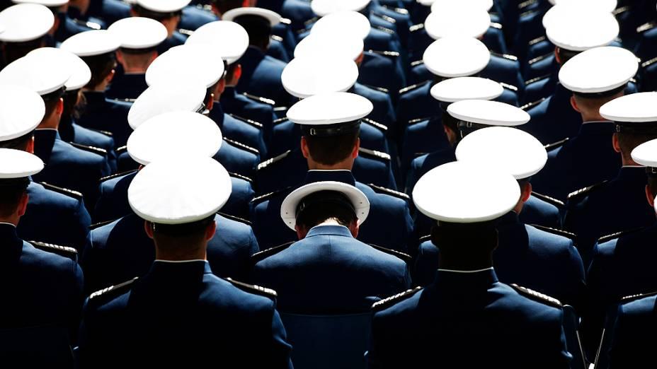 Cerimônia de formatura da Força Aérea americana no estado do Colorado, Estados Unidos