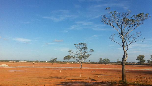 Terrenos em Guaratiba são preparados para receber a missa de encerramento da JMJ, celebrada pelo papa Francisco