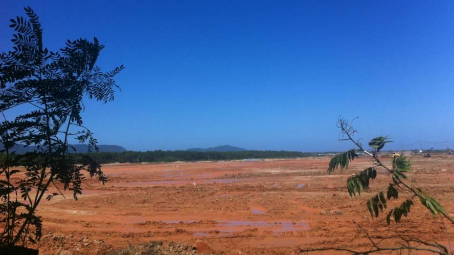 Terreno em Guaratiba onde o papa Francisco celebrará a última missa da JMJ