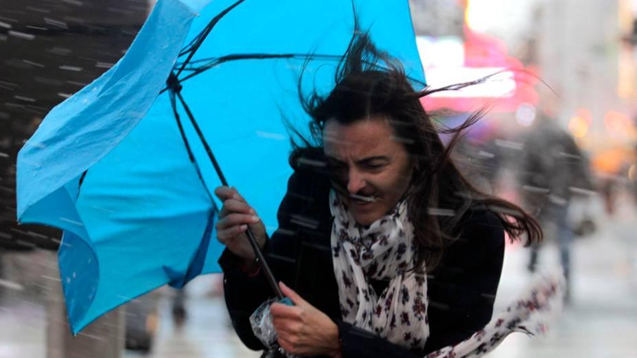 Americana durante chuva em Nova York