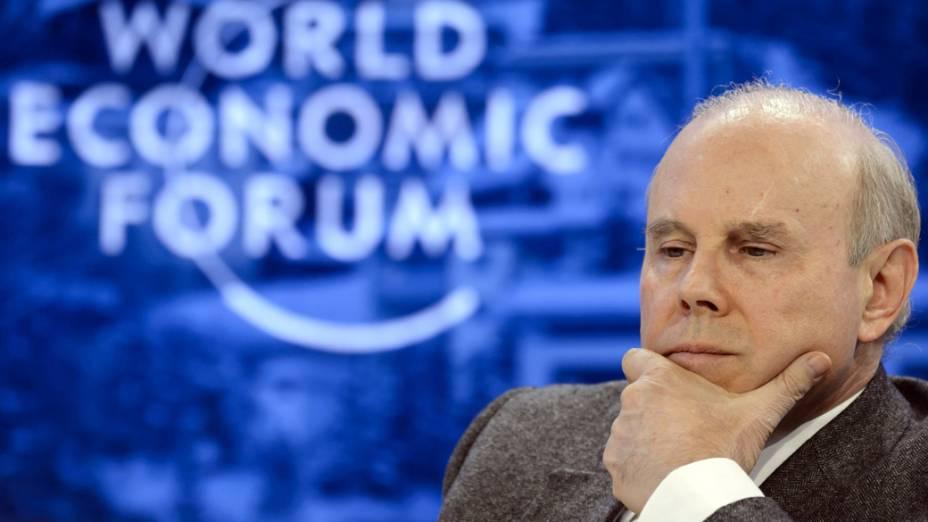 Guido Mantega durante o Fórum Ecônomico Mundial, em Davos