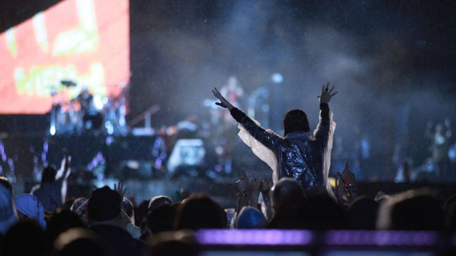 O público durante o show do Guns n Roses no palco Mundo, no último dia do Rock in Rio, em 02/10/2011