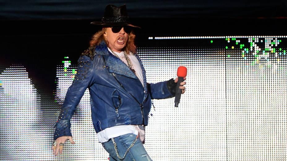 Apresentação do Guns N Roses no Anhembi, em São Paulo