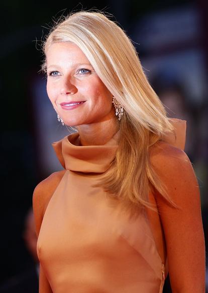 Gwyneth Paltrow durante o festival de Veneza, na Itália